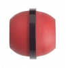 "Resin Bead Barrel 18x20mm 8"" Str (Approx.11pcs) Red/Black"